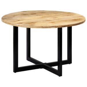 Mesa de jantar 120x73 cm madeira de mangueira maciça - PORTES GRÁTIS