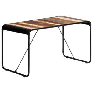Mesa de jantar 140x70x76 cm madeira recuperada maciça - PORTES GRÁTIS