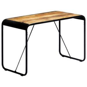 Mesa de jantar 118x60x76 cm madeira de mangueira maciça áspera - PORTES GRÁTIS