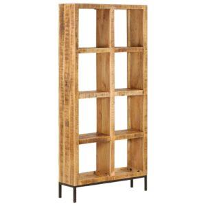 Estante 80x25x175 cm madeira de mangueira maciça - PORTES GRÁTIS