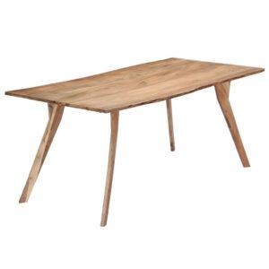 Mesa de jantar 180x88x76 cm madeira de acácia maciça - PORTES GRÁTIS