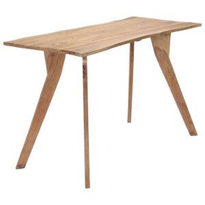 Mesa de jantar 120x58x76 cm madeira de acácia maciça - PORTES GRÁTIS