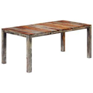 Mesa de jantar 180x90x76 cm madeira de sheesham maciça cinzento - PORTES GRÁTIS
