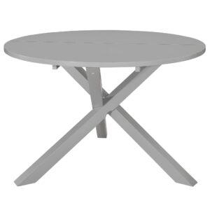 Mesa de jantar 120x75 cm MDF cinzento - PORTES GRÁTIS