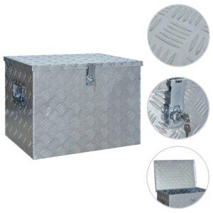 Caixa de alumínio 610x430x455 mm prateado - PORTES GRÁTIS