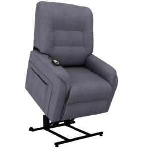 Poltrona TV reclinável/articul. elétrica tecido cinzento-escuro - PORTES GRÁTIS