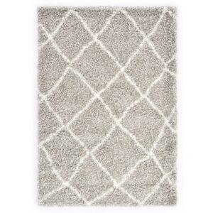 Tapete berbere shaggy PP cor areia e bege 160x230 cm - PORTES GRÁTIS