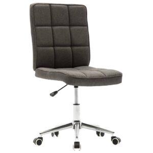 Cadeira de jantar tecido cinzento-escuro - PORTES GRÁTIS