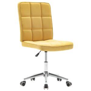 Cadeira de jantar tecido amarelo - PORTES GRÁTIS