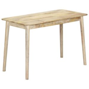 Mesa de jantar 115x60x76 cm madeira de mangueira maciça - PORTES GRÁTIS