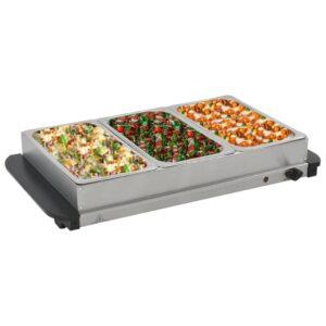 Buffet quente 300 W 3x2,5 L aço inoxidável - PORTES GRÁTIS