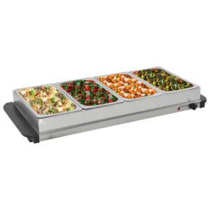 Buffet quente 400 W 4x2,5 L aço inoxidável - PORTES GRÁTIS