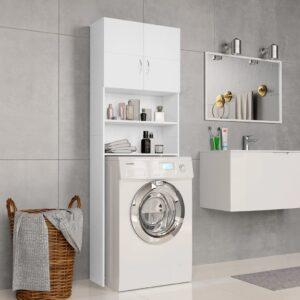 Armário máquina de lavar roupa 64x25,5x190 cm aglomerado branco - PORTES GRÁTIS