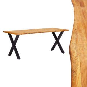 Mesa de jantar 180x90x75 cm madeira carvalho maciça natural - PORTES GRÁTIS