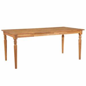 Mesa de jantar 170x90x75 cm madeira de acácia maciça  - PORTES GRÁTIS