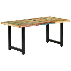 Mesa de jantar 180x90x76 cm madeira recuperada maciça  - PORTES GRÁTIS