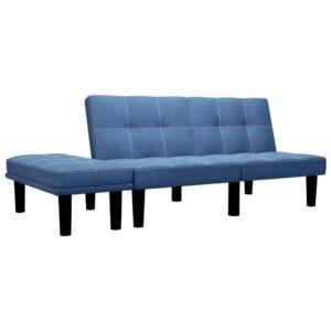 Sofá de 2 lugares em tecido azul - PORTES GRÁTIS