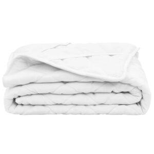 Protetor de colchão acolchoado 70x140 cm leve branco  - PORTES GRÁTIS