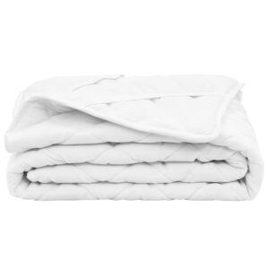Protetor de colchão acolchoado 90x200 cm pesado branco - PORTES GRÁTIS