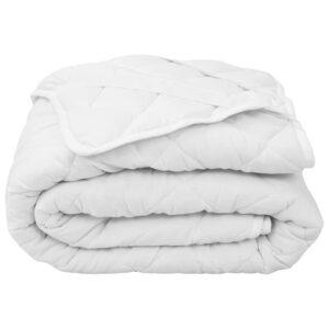 Protetor de colchão acolchoado 160x200 cm leve branco  - PORTES GRÁTIS