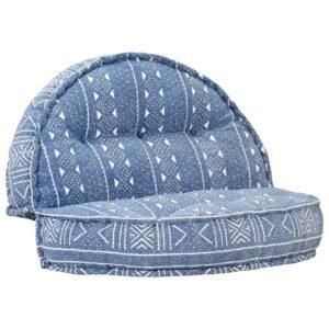 Sofá 120x20 cm tecido azul índigo - PORTES GRÁTIS