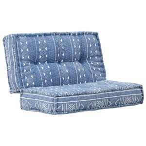 Sofá 120x120x20 cm tecido azul índigo - PORTES GRÁTIS