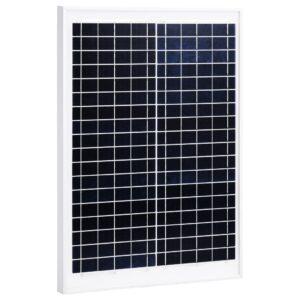 Painel solar 20 W alumínio policristalino e vidro de segurança - PORTES GRÁTIS