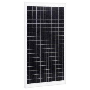 Painel solar 30 W alumínio policristalino e vidro de segurança - PORTES GRÁTIS