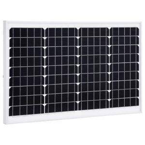 Painel solar 40 W alumínio monocristalino e vidro de segurança - PORTES GRÁTIS