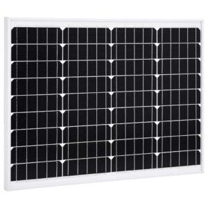 Painel solar 50 W alumínio monocristalino e vidro de segurança - PORTES GRÁTIS