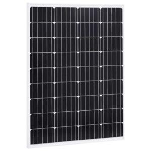 Painel solar 100 W alumínio monocristalino e vidro de segurança - PORTES GRÁTIS