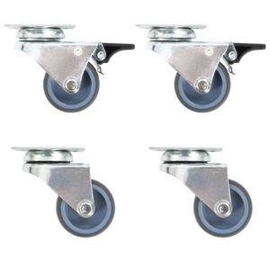 24 pcs rodas giratórias duplas 50 mm - PORTES GRÁTIS