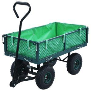 Carrinho de mão de jardim 250 kg verde - PORTES GRÁTIS