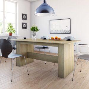 Mesa de jantar 180x90x76 cm contraplacado carvalho sonoma - PORTES GRÁTIS