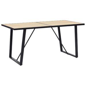 Mesa de jantar 160x80x75 cm MDF cor carvalho - PORTES GRÁTIS
