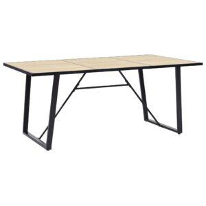Mesa de jantar 180x90x75 cm MDF cor carvalho - PORTES GRÁTIS