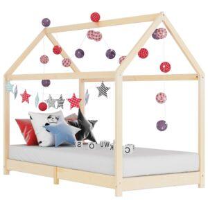 Estrutura de cama para crianças 90x200 cm pinho maciço - PORTES GRÁTIS