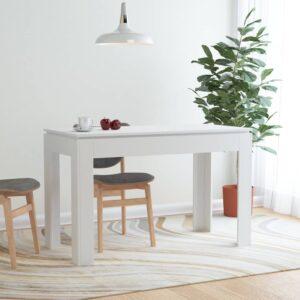 Mesa de jantar 120x60x76 cm contraplacado branco - PORTES GRÁTIS