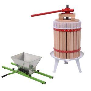 2 pcs conjunto de prensa e triturador de fruta e vinho - PORTES GRÁTIS