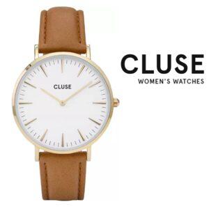Relógio Cluse® La Boheme Gold White/Caramel | 38 MM