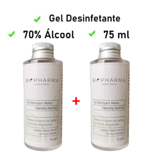 2 x Gel desinfectante Biopharma 75 ml | Con 70% de alcohol