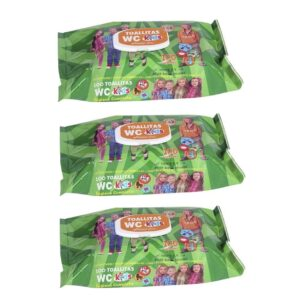 300 Toalhitas WC Húmidas Kids - Pack de 3 Embalagens
