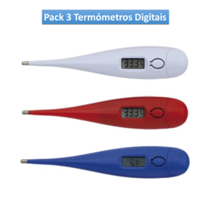 Pack 3 Termómetros Digitais 143696