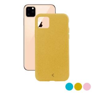 Capa para Telemóvel Iphone 11 Pro Max KSIX Eco-Friendly Cor de Rosa