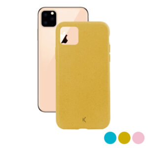 Capa para Telemóvel Iphone 11 Pro Max KSIX Eco-Friendly Amarelo