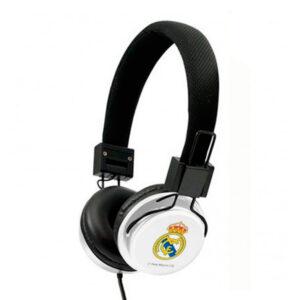 Auscultadores de Diadema Real Madrid C.F. Branco Preto