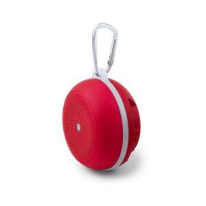 Altifalante Portátil com Mosquetão Bluetooth 3W Vermelho