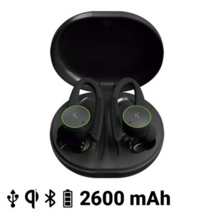 Auriculares Desportivos com Microfone KSIX Sports Buds 400 mAh Preto