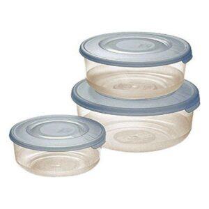 Conjunto de 3 Lancheiras Tontarelli (0,5 - 1 - 2 L) Cream