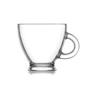 6 Chávenas de Café LAV Roma 95 ml Cristal